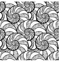 Abstract spiral seamless pattern wave nautilus vector
