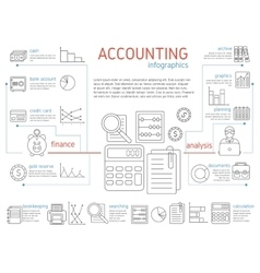 Accountant Linear Infographics vector