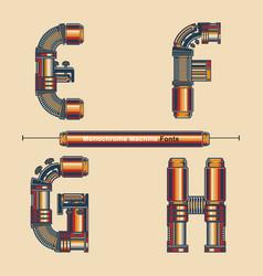 alphabet typography font monochrome vintage vector image