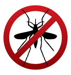 Anti Mosquito Sign vector