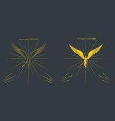 Archangel michael christian symbol vector
