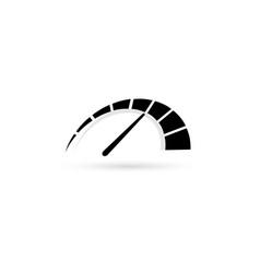 auto speedometer or business speedometer icon vector image