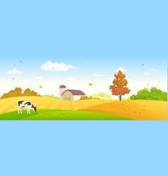 autumn farm banner vector image