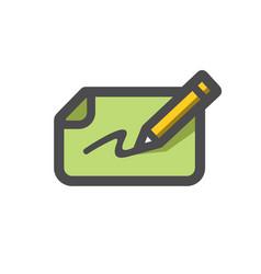bank check and pen icon cartoon vector image