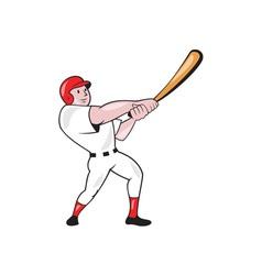Baseball Player Swinging Bat Cartoon vector