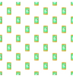 Battery indicator on phone pattern cartoon style vector