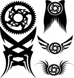 Bike parts art vector