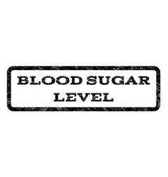 Blood sugar level watermark stamp vector