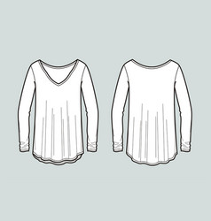 blouse vector image