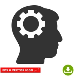 Brain Gear Eps Icon vector