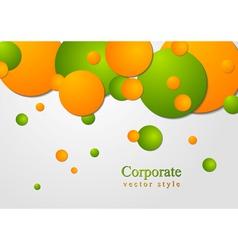 Bright circles design vector image