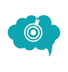 Bullseye with arrow within conversation bubble vector