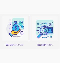business and finance concept icons sponsor vector image