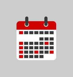calendar icon sign vector image
