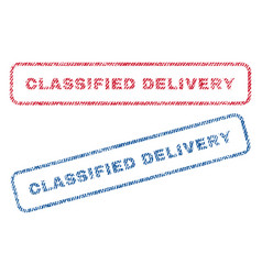 Classified delivery textile stamps vector