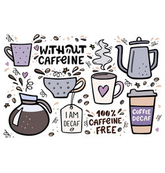 coffee big set handdrawn with vector image