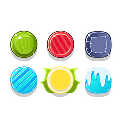 colorful glossy balls set shiny spheres game vector image
