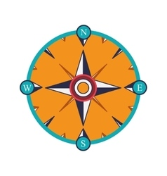 Compass rose design vector