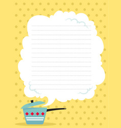 Cooking receipts template vector