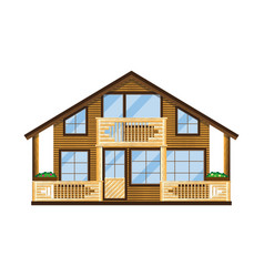 cool detailed house vector image