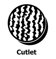 Cutlet icon simple black style vector