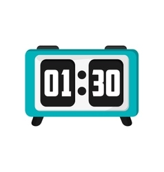 digital alarm clock icon vector image
