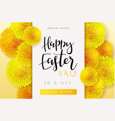 Easter promotion banner vector