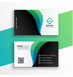 Elegant business card design with curve shapes vector