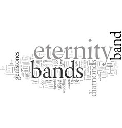 Eternity bands do last forever vector