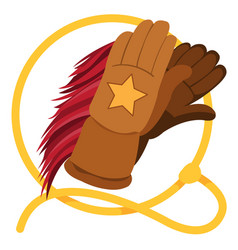 gloves for horse riding and lasso vector image