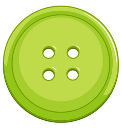 Green button on white background vector