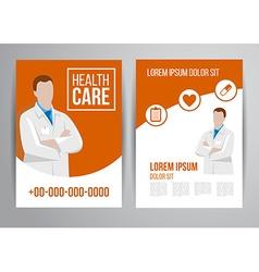 Healthcare brochure vector
