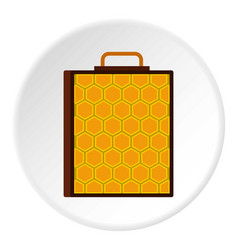 Honeycomb icon circle vector