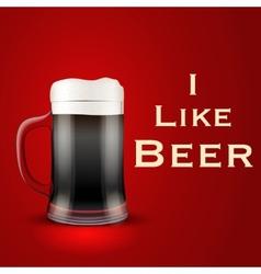 I like beer vector