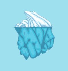 iceberg polar ice mountain glacier icon vector image