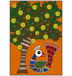 India birdie and tree vector