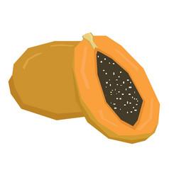 Isolated geometric papayas vector