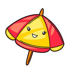 kawaii cute parasol vector image