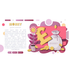 Money background pounds sterling sign vector