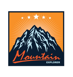 mountain adventure camping climbing logo vector image
