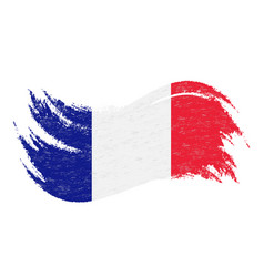 national flag of france designed using brush vector image