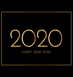 new year 2020 greeting card 2020 golden new year vector image