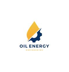 Oil gear gas energy engineering logo icon vector