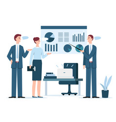 people at business presentation vector image