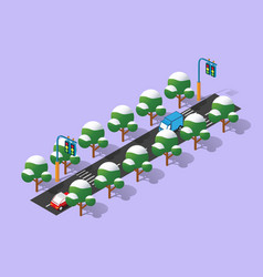 perspective isometric view vector image