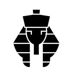 pharaoh icon black sign on vector image