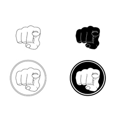 Pointing fingers set vector