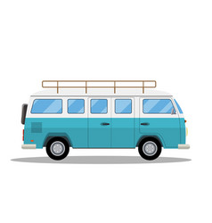 Retro travel van icon vector