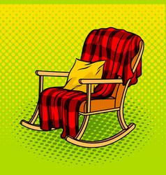 Rocking chair pop art vector