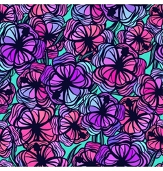 Seamless pattern with stylized colored tropical vector image